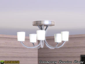 Sims 3 — Contemporary Luxurious Dining Room. Modern Ceiling Light by Canelline — Contemporary Luxurious Dining Room.
