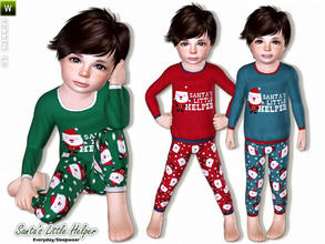 Sims 3 — Santa's Little Helper by lillka — Santa's Little Helper - Outfit for your toddler boys Everyday/Sleepwear 3