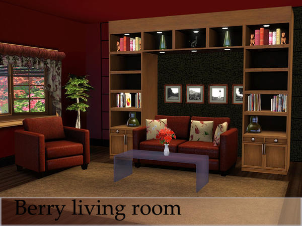 Spacesims 39 berry living room for Living room ideas sims 3
