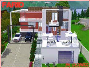 Sims 3 — Farid House by Gigibree2 — Farid is a 2 bedroom house. It offers in the first floor 1 living area, 1 open