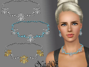 Sims 3 — Snowflakes with crystal necklace FA-YA by Natalis — Shining crystals and shimmering snowflakes ... Amazing