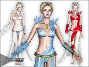 Sims 3 — Janna by DarkNighTt — A New Costume for your Fantastic Sims. Ice Fairy, Air Fairy... Custom mesh FULLY by me.