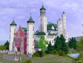 Sims 3 — NeuSchwanstein_Rebuilt by matomibotaki — Inspired by the palace of Ludwig II , Neu Schwanstein, I offer you the