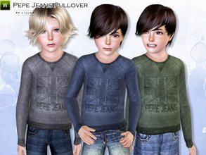 Sims 3 — Pepe Jeans Pullover by lillka — Pepe Jeans Pullover Everyday/Formal 3 styles/recolorable I hope you like it :)