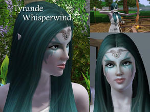 Sims 3 — Tyrande Whisperwind by Demented_Designs —  Tyrande Whisperwind is a witch that loves the outdoors and animals. I