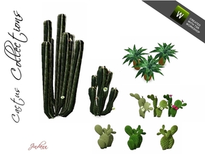 Sims 3 — Cactus Collection by Jindann — Your garden will be more beautiful if you plant some cactus on it. So try them