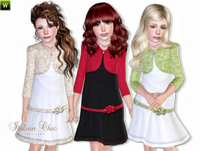 Sims 3 — Italian Chic by lillka — Stylish dress with necklace and jacket for everyday or for special occasions.