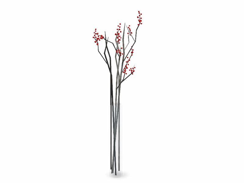 Simman123s Tall Berry Stick Vase