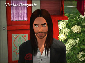 Sims 3 — Nicolae Dragomir by Demented_Designs — A gypsy man that loves dogs, the outdoors, and is good at gathering so