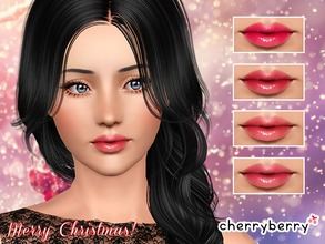Sims 3 — Berry lipgloss by CherryBerrySim — Juicy berry lipgloss for female sims. Teens to Elder with three recolorable