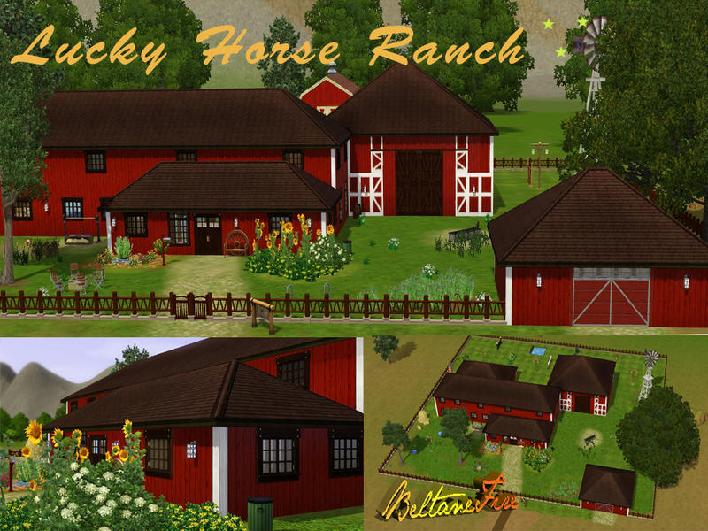 Lucky horse ranch by beltanefire for Lucky 4 ranch floor plan