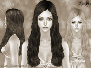 Sims 2 — Northern Star - Mesh by Cazy — Hairstyle for female, young adult~elder