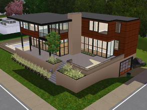 Sims 3 — Lake House by sambot2172 — A contemporary two bedroom home for your sims. With an open loft area on the second