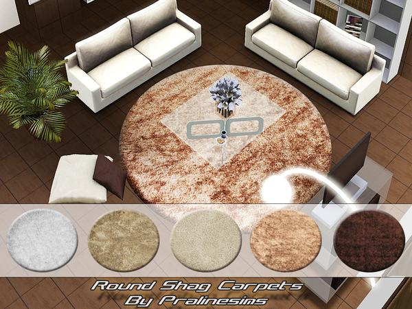 Round Shag Carpets by Pralinesims