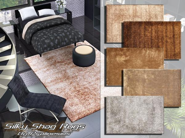 Silky Shag Rugs by Pralinesims