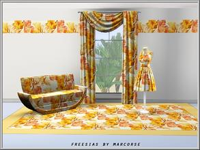 Sims 3 — Freesias_marcorse by marcorse — Themed pattern: pretty, red and yellow Spring freesias
