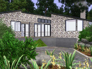 Sims 3 — Bromont House by sambot2172 — This contemporary two bedroom bungalow is perfect for single sims or small