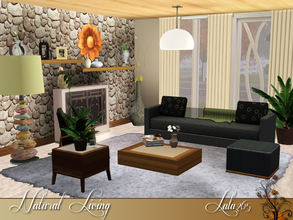 Sims 3 — Natural Living by Lulu265 — Your living room is one of the most lived-in rooms in your home. This set is both
