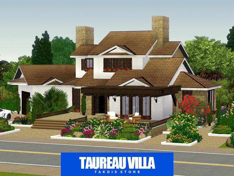 Takdis 39 taureau villa for Classic house sims 4