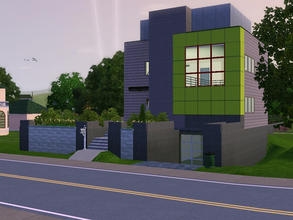 Sims 3 — Green Cube Show Home by sambot2172 — This is my sims version of the ultra modern Green Cube Show Home by Heidi