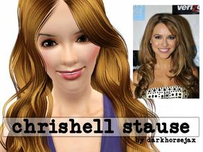 Sims 3 — Chrishell Stause by darkhorsejax2 — Chrishell Stause is an American actress, best known for her role as Amanda