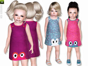 Sims 3 — Fred's World Dress by lillka — Funny dress for toddler. Everyday/Formal 3 styles/recolorable I hope you like it