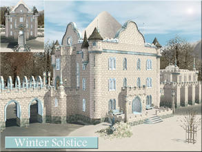 Sims 3 — Winter Solstice by Demented_Designs — A wintry family castle with 3 bedrooms, 4 baths, a stable, indoor pool and