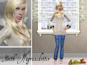 Sims 3 — Neith Hagrunsdottir by BeltaneFire — Young adult, loves the colour aquamarine, Sushi and Popmusic. Is friendly,
