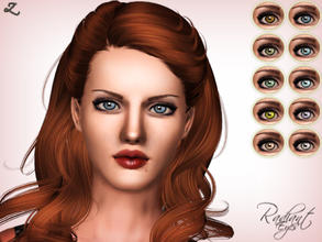 Sims 3 — Radiant Eyes by zodapop — Bright realistic eyes for your sims. 2 recolorable channels. 10 premade variations