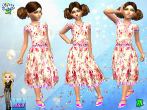 Sims 2 — ASA_Daily dress for the girl by Gribko_Sveta — Daily dress for the girl