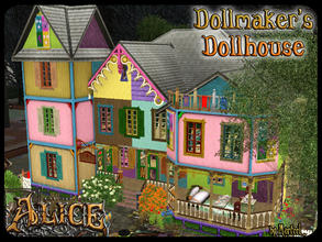 Sims 3 — AMR - The Dollmaker's Dollhouse by murfeel — A whimsical toystore residence with a sinister underbelly, perfect