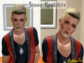 Sims 3 — Simon Hawkshire by BeltaneFire — Young adult. -- Athletic, chaotic, sense of humour, vegetarian, brave. -- Wants