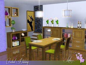 Sims 3 — Orchid Dining by Lulu265 — Inspired by the lovely Orchid , this dining is modern and colourful with a touch of