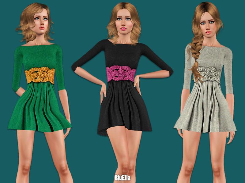 BluElla's Knitting Belt Dress