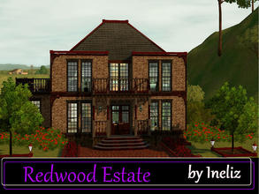 Sims 3 — Redwood Estate by Ineliz — For a perfect little family house, your sims can stop their search with Redwood