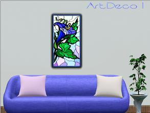Sims 3 — ArtDeco 1 by Paogae — A floral picture with vivid and cheerful colors!