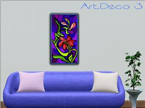 Sims 3 — ArtDeco 3 by Paogae — A floral picture with vivid and cheerful colors!
