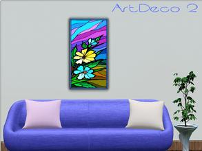 Sims 3 — ArtDeco 2 by Paogae — A floral picture with vivid and cheerful colors!