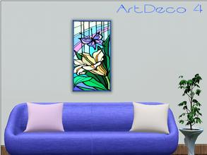 Sims 3 — ArtDeco 4 by Paogae — A floral picture with vivid and cheerful colors!