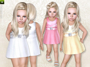 Sims 3 — Satin Pleated Dress by lillka — Satin pleated dress for toddler Everyday/Formal 5 styles/recolorable I hope you