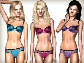 Sims 3 — Satin & Lace Lingerie by zodapop — Rich satin and decadent lace lingerie inspired by Designer Stella