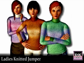 Sims 3 — Ladies Knitted Jumper by DK_LTD — Ladies multicoloured knitted jumper for those cold winter days.