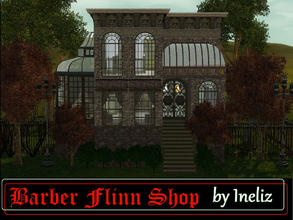 Sims 3 — Barber Flinn Shop by Ineliz — When your sims feel like they need a stylish makeover, they should stop by Barber