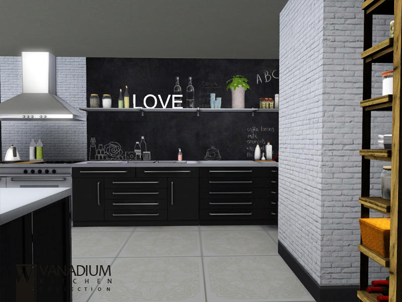 Wondymoon 39 s vanadium kitchen for Sims 3 kitchen designs