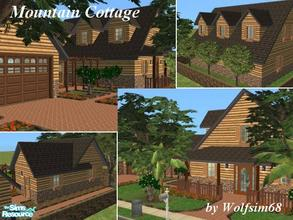 Sims 2 — Mountain Cottage by Wolfsim68 — This lovely home has a large Living, a combined Dining & Kitchen & a