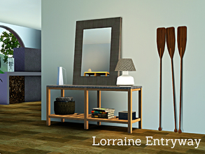 Sims 3 — Lorraine Entryway by Angela — Lorraine Entryway, a modern contemporary console with decorative items to make