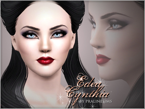 Sims 3 — Edea Cynthia by Pralinesims — Edea Cynthia, beautiful sim with black hair and dark berry, glossy lips! :) You
