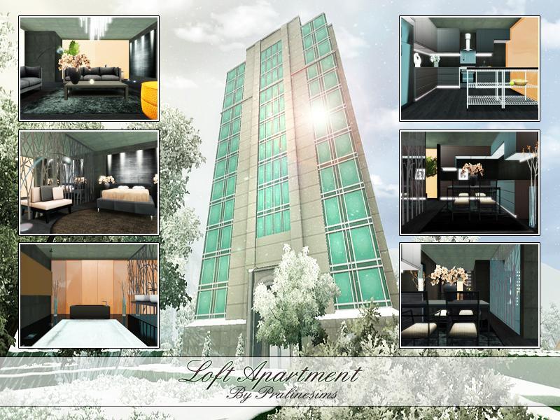 Pralinesims 39 loft apartment for Apartment design sims 3
