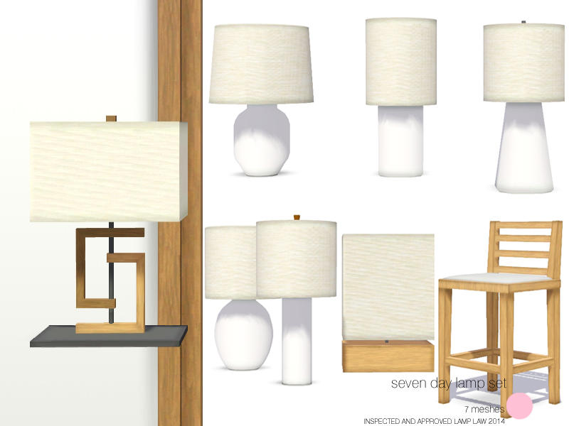 Dot S Seven Day Lamp Set