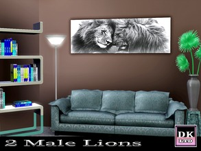 Sims 3 — 2 Male Lions by DK_LTD — Two beautiful male lions.